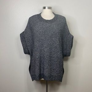BCBGMAXAZRIA Black Cotton Wool Blend Sweater